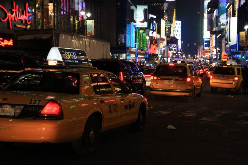 Les immanquables taxis jaunes insomniaques